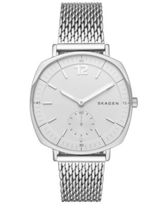 Skagen Women's Chronograph Rungsted Stainless Steel Mesh Bracelet Watch 34x39mm SKW2402