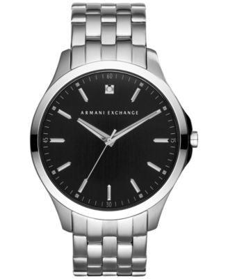 A|X Armani Exchange Men's Diamond Accent Stainless Steel Bracelet Watch 46mm AX2158