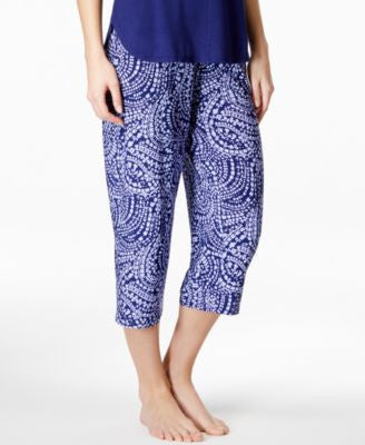 Alfani Satin-Waistband Cropped Pajama Pants, Only at Vogily