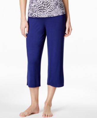 Alfani Satin-Waist Trim Cropped Pajama Pants, Only at Vogily