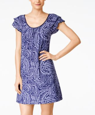 Alfani Flutter-Sleeve Short Nightgown, Only at Vogily