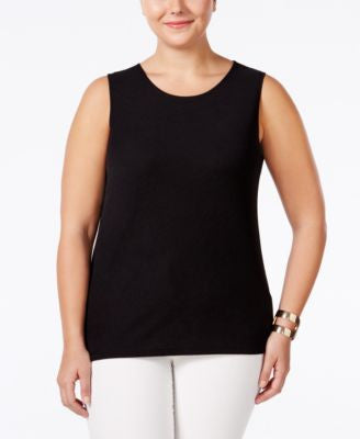 Alfani Plus Size Textured Layering Tank, Only at Vogily
