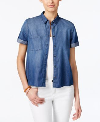 Calvin Klein Jeans Short-Sleeve Denim Shirt