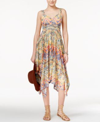 American Rag Juniors' Printed Handkerchief-Hem Maxi Dress, Only at Vogily