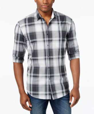 Hugo Boss Green Men's Bydero Plaid Long-Sleeve Shirt