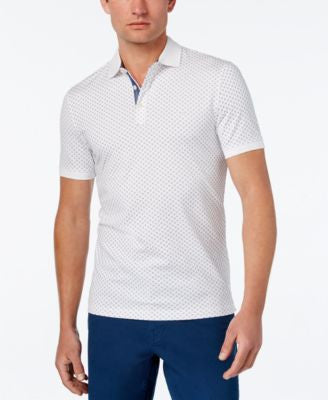 Michael Kors Men's Mercerized Geo-Print Polo
