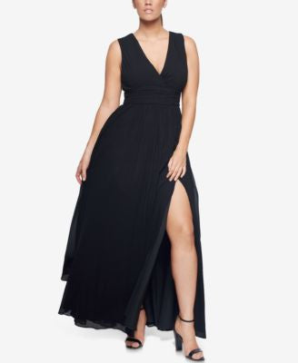 Fame and Partners Classic Side-Slit Dress