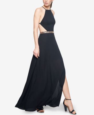 Fame and Partners Backless Halter Dress