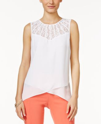 Thalia Sodi Layered Lace-Trim Blouse, Only at Vogily