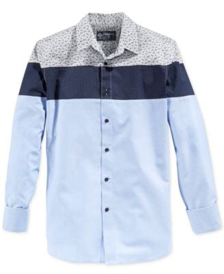 American Rag Men's Colorblocked Long-Sleeve Shirt, Only at Vogily