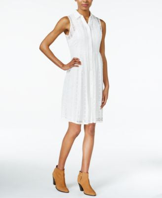 Maison Jules Lace Shirtdress, Only at Vogily