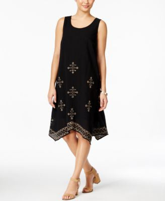 Style & Co. Embroidered Shift Dress, Only at Vogily