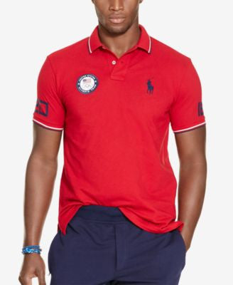 Polo Ralph Lauren Team USA Custom-Fit Mesh Polo Shirt