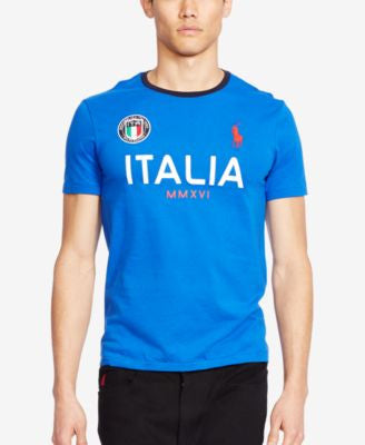 Polo Ralph Lauren Men's Custom-Fit Italia Graphic Crew Neck T-Shirt