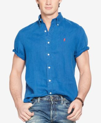 Polo Ralph Lauren Men's Linen Short-Sleeve Shirt