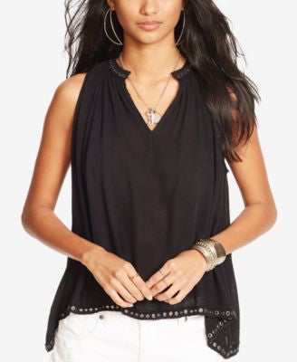 Denim & Supply Ralph Lauren Studded Gauze Top