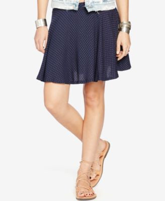 Denim & Supply Ralph Lauren Star-Print A-Line Mini Skirt