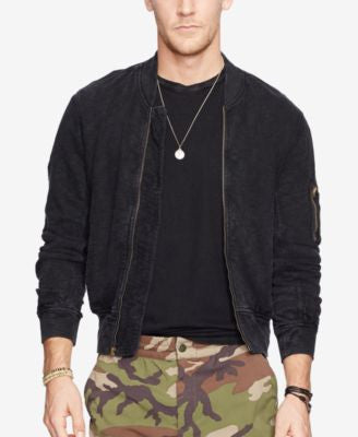 Denim & Supply Ralph Lauren Men's Jersey Bomber Jacket