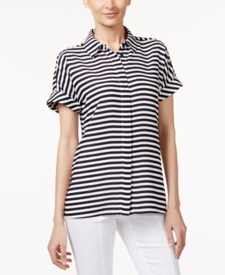 Alfani Petite Striped Blouse, Only at Vogily