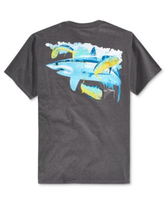 Guy Harvey Men's Mako Wish Graphic-Print Pocket T-Shirt