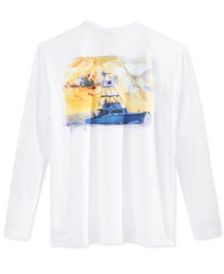 Guy Harvey Men's Graphic-Print Long-Sleeve Performance Sun Protection T-Shirt