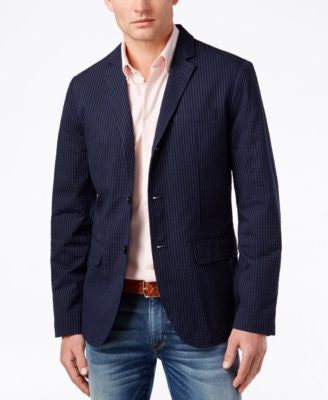 Tommy Hilfiger Men's Zach Texture Seersucker Sport Coat