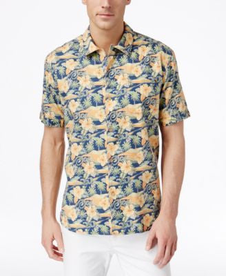 Tommy Bahama Men's Cassis Tropical-Print Short-Sleeve Shirt