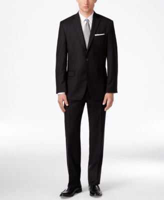 Calvin Klein Men's Slim-Fit Black Suit
