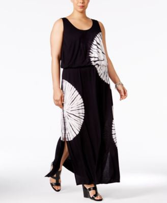 INC International Concepts Plus Size Tie-Dyed Maxi Dress, Only at Vogily