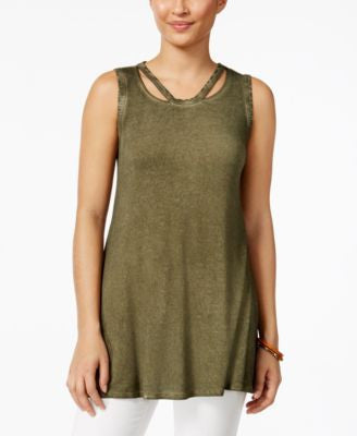 Style & Co. Sleeveless Burnout-Dye Top, Only at Vogily
