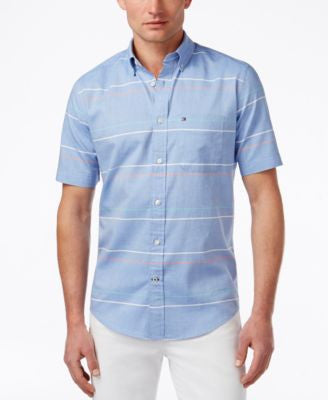 Tommy Hilfiger Men's Murdock Stripe Short-Sleeve Shirt