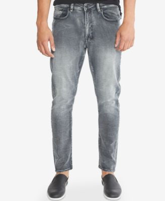 Kenneth Cole New York Men's Skinny-Fit Gray-Wash Jeans