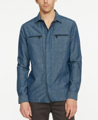 Kenneth Cole New York Men's Long-Sleeve Shirt Jacket