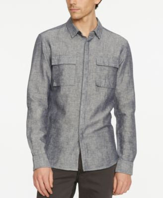 Kenneth Cole New York Men's Modern Long-Sleeve Utility Shirt