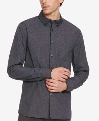 Kenneth Cole New York Men's Check Cross Long-Sleeve Shirt