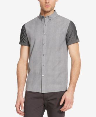 Kenneth Cole New York Men's Colorblocked Plaid Short-Sleeve Shirt