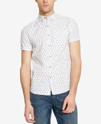 Kenneth Cole Reaction Men's Pineapple-Print Short-Sleeve Shirt