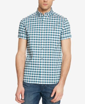Kenneth Cole Reaction Men's Check Short-Sleeve Shirt