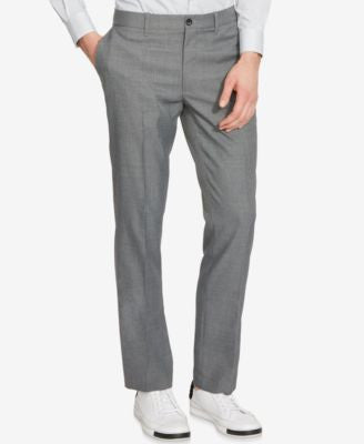 Kenneth Cole Reaction Men's Mini-Check Flat-Front Pants