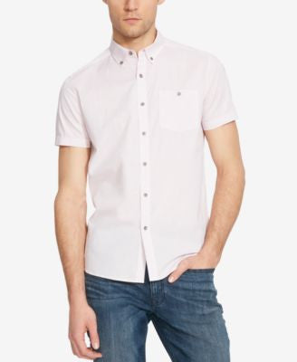 Kenneth Cole Reaction Men's Horizontal-Stripe Short-Sleeve Shirt