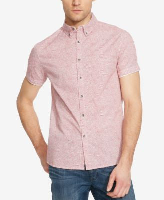 Kenneth Cole Reaction Men's Dot-Print Short-Sleeve Shirt
