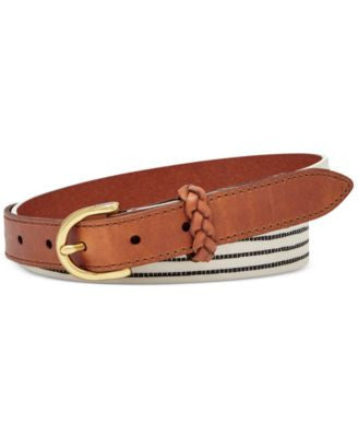 Fossil Printed Stripe Belt