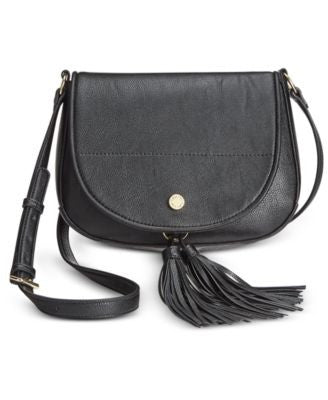 Calvin Klein Tassel Detail Saddle Bag
