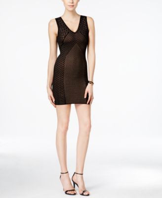 GUESS Delilah Sleeveless Pointelle Bodycon Dress