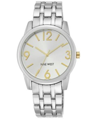 Nine West Women's Stainless Steel Bracelet Watch 39mm NW/1765SVTT