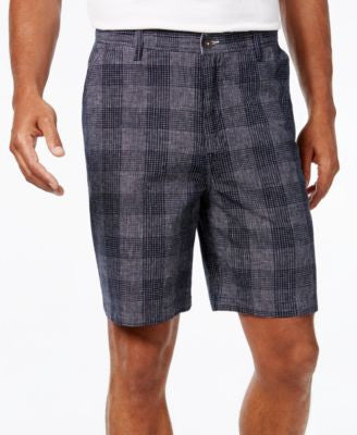 Geoffrey Beene Men's Classic-Fit Lightweight Plaid Shorts