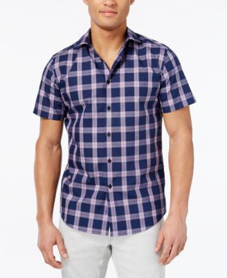 Vince Camuto Men's Check Short-Sleeve Shirt