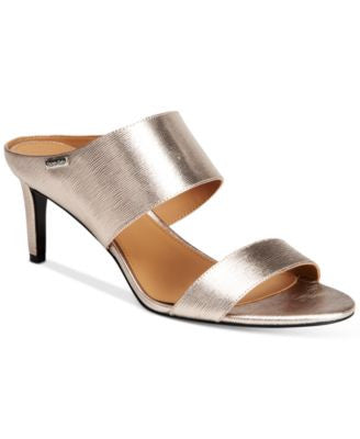 Calvin Klein Women's Cecily Wide-Strap Sandals