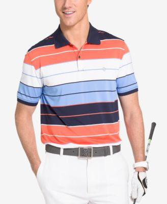 Izod Men's Thick-Striped Performance Golf Polo