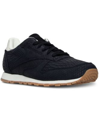Reebok Women's Classic Leather Clean Exotics Casual Sneakers from Finish Line